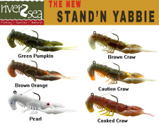 NEW River2Sea Weedless Stand/'N/'Yabbie Crayfish WO-SY100//02 BROWN CRAW BASS