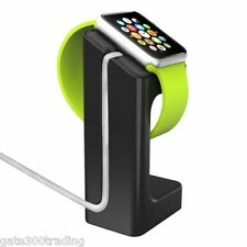 BLACK Apple Watch Stand holder Charging Dock iWatch 38mm 42mm Docking Station