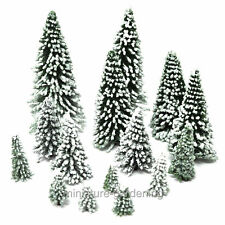 Snow Pine Trees, 15 Piece Set, 1 to 4 inches tall for Miniature Garden