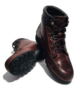 HH Brown Womens Brown Leather Gore Tex Lace Up Ankle Hiking Trail Boots SZ 9.5 M