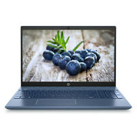 "HP Pavilion 15.6"" FHD AMD Ryzen 5 8GB RAM 128GB SSD 1TB HDD Webcam Win 10 Blue"