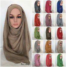 *MAXI VISCOSE* Plain Gold Shiny Glitter Scarf Hijab Muslim 52colors 180 x 90 cm