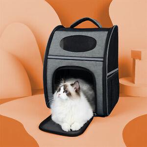 Large Pet Backpack Carry Carriers Dog Cat Foldable Shoulder Back Bag Hiking Tote