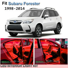 For 1998-2014 Subaru Forester Premium Red LED Interior Lights Kit 8 Pieces