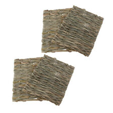4x Straw Woven Rabbit Small Pet Mat Hamster Mouse Natural Hay Bedding Petate