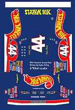 #44 Kyle Petty Hot Wheels Pontiac 1/43rd Scale Slot Car Waterslide Decals