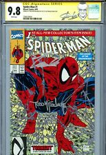Spider-Man Vol 1 1 CGC 9.8 SS X2 Green cover Stan Lee label Todd McFarlane WP