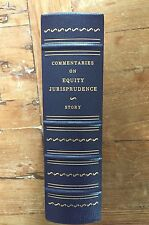 Commentaries On Equity Jurisprudence Justice Story Leather Gryphon Legal Classic