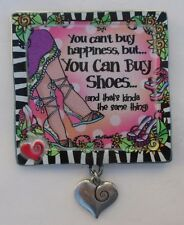 cc Money can't buy happiness can buy shoes SUZY TORONTO Refrigerator Magnet