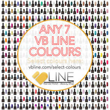 VB™ Line Any 7 Colours Nail Gel Polish - Top and Base coat available Starter set