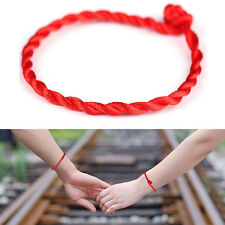 2 Pcs Hand Braided Chinese Red Simple Style Lucky String Rope Cord Bracelet HOT