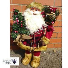 Gisela Graham Tradizionali Grande Babbo Natale Tartan Rivestimento Ornamento
