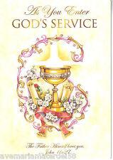 Catholic Greeting Card Ordination Diaconate As You Enter God's Service Italy
