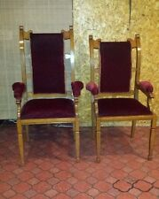 Set of Six ARM Chairs Arts & Crafts Art Nouveau (4 side & 2 end chairs)