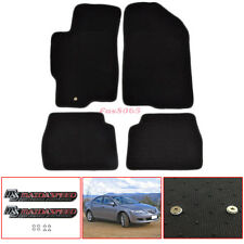 Fits 03-08 Mazda 6 4Dr 5Dr OE Fitment Floor Mats Carpet Black W/Mazdaspeed Logo