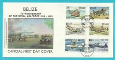 Belize aus 1993 FDC MiNr. 1102-1107 75 Jahre Royal Air Force Hubschrauber