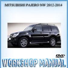 MITSUBISHI PAJERO NW 2012-2014 WORKSHOP SERVICE REPAIR MANUAL IN DISC