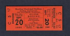 Philadelphia boxing WORLD CHAMPION Joey Giardello Cash White 1966 boxing ticket
