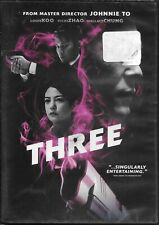 Three (DVD) Johnnie To, Vicki Zhao, Louis Koo, Wallace Chung NEW & SEALED!