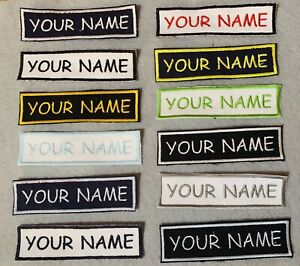 "Custom Personalized Embroidered Name / Tag Patch 1""X 4"" Rectangular"