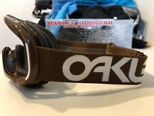 Brand New*Never Worn* Oakley Crowbar Snow Goggle Frame Brown/White