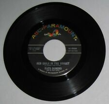 """Fats Domino - USA 45 - """"Red Sails In The Sunset"""" / """"Song For Rosemary"""" - VG"""