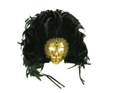 MASQUE VENITIEN CARNAVAL DE VENISE ARTISANAT FEUILLE D OR COLLECTION