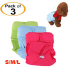 3Pack/Set Washable & Reusable Dog Diapers S M L for Male and Female