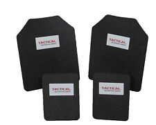 Tactical Scorpion Body Armor Plate Trauma Pads 10mm 10x12+6x8 Set For AR500