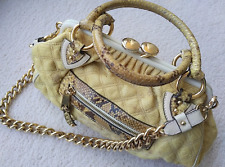 Marc Jacobs Stam bag purse doctor bowler top handle python trim fabric body AUTH