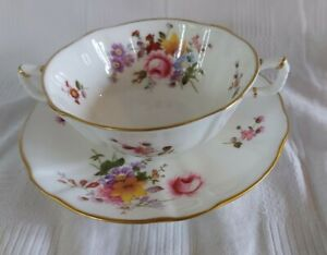 Royal Crown Derby Posies Soup Coupe/Saucer
