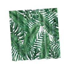"180x180cm Green Leaf Print Shower Curtain Bathroom Fabric Hanging Sheer 71"""