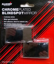 Chrome plated blindspot mirrors self adhesive x 2 units..,,..