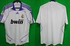 2007-2008 Real Madrid Jersey Shirt Camiseta Home bwin com La Liga Adidas M BNWT