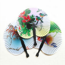 Hand Held Mini Folding Chinese Style Paper Fans Wedding Party For Women Pro HOT