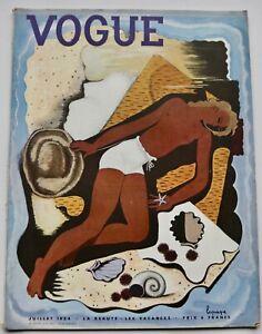 1934 Georges Lepape art deco VOGUE 30s vintage Paris fashion Piguet Hermes