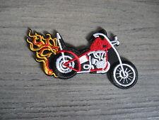 Aufnäher Patch Fire Racing Motorsport Tuning Motocross Biker Chopper Aufbügler