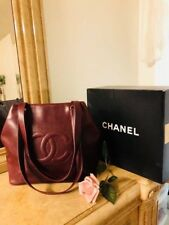 AUTHENTIC CHANEL RED CAVIAR LEATHER PURSE / HANDBAG / GREAT CONDITION