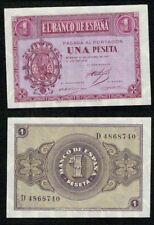 1 peseta año 1937 serie D nº 4868740 Escudo de Casa de Borbón. SC. PLANCHA.
