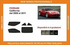 pellicola oscurante vetri Ferrari california dal 2009-2011 kit completo