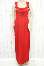 SPORTALM ☀ Damen Trachten Kleid Dirndl Gr. 34 Rot Lang Dress Robe