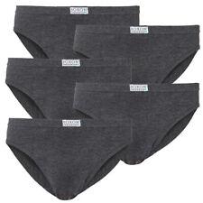 5 Stk Herren BOXON® Slip Slips anthrazit Baumwolle Unterhosen