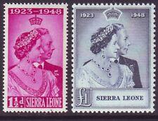 Sierra Leone 1948 SC 188-189 MNH Set Silver Wedding