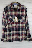 $60 NEW Weatherproof Vintage Soft Plaid Flannel Shirt Windsor Wine L large