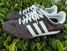 2006 Vintage Adidas Dragon Original Shoes Brown/White Leather Men 9 ART-451655
