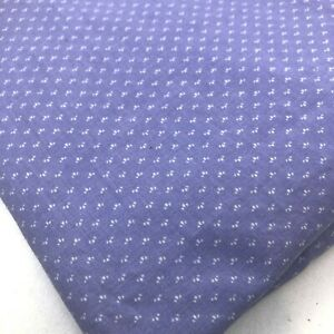 "VTG Fabric Cranston Lavender small white dots 3 yards x 44"""