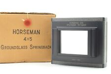 【NEAR MINT In Box】HORSEMAN Ground glass Spring back Increasing Back 6x9 to 4x5