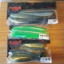 "3 new packs Lunker City, 7.5"" slug go, 10"" fin s fish,  6"" Shaker swimbaits"
