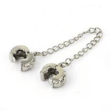 Authentic  Double Lock Charm Clips European  Heart bead lot Fit Charm bracelet