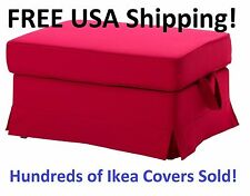 Ikea EKTORP Footstool (Ottoman) Slipcover Cover Idemo Red 501.667.76 NEW! SEALED